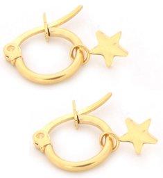 Oorbellen met gouden ster