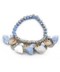 Ibiza armband met glazen kralen