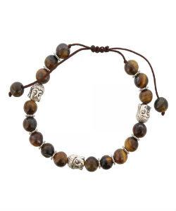 Armband met halfedelstenen en boeddha