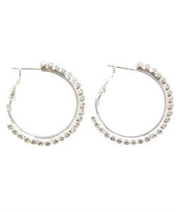 Zilveren oorbellen met diamanten
