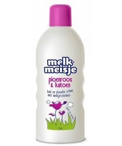 Melkmeisje bad en douche pioenroos 1000 ml