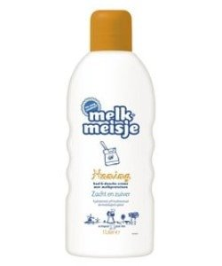 Melkmeisje bad en douche honing 1000 ml