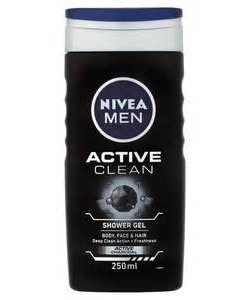 nivea douche for men active clean 250 ml