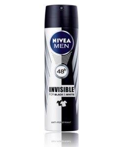 nivea deo spray for men black & white invisible 150 ml