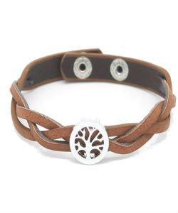 Bruine Leren armband