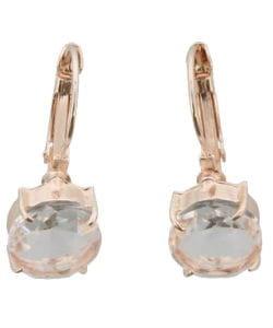 Goude oorbellen met kristallen