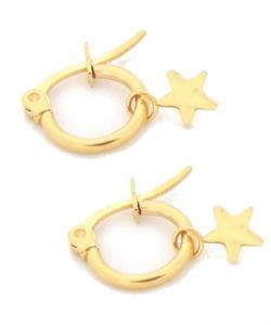 Gouden oorbel met ster