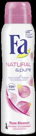Fa deo spray 150ml Natural & pure rose blossom