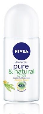 nivea deo roller pure & natural jasmine 50 ml