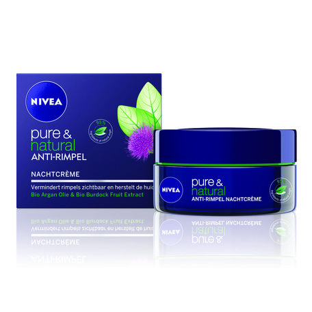 nivea visage pure & natural nachtcreme anti rimpel 50 ml