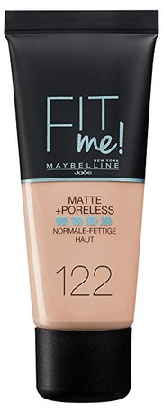 maybelline foundation matte fit 122 creamy beige