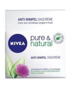 nivea visage pure & natural dagcreme anti rimpel 50 ml