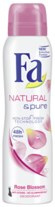 Fa deo spray 150ml Natural & pure rose blossom