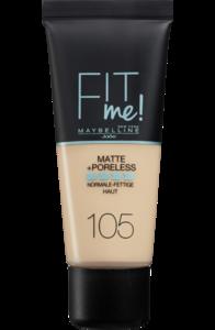 maybelline foundation matte fit me 105