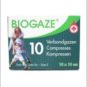 Biogaze verbandgazen10st 10X10