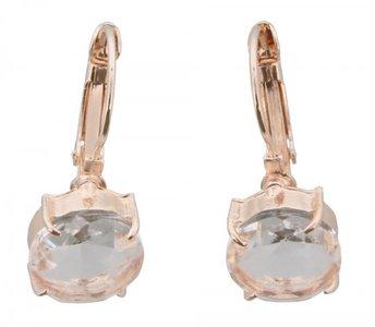 Gouden oorbel met kristallen